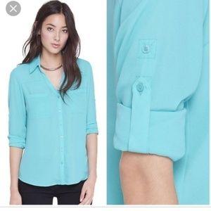 Express turquoise blue Portofino shirt Small